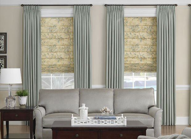 roman-blinds-with-curtains
