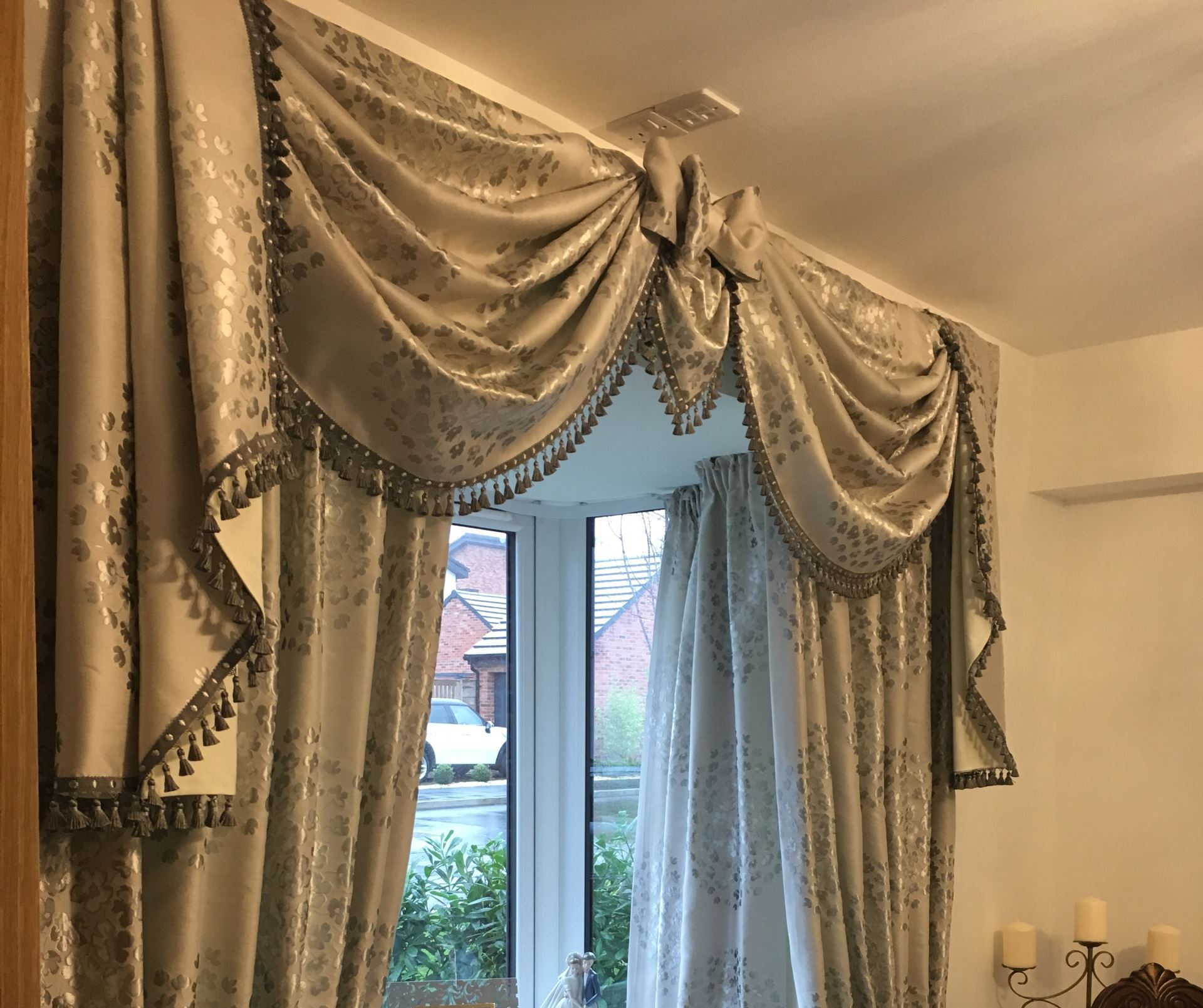 Swags Tails Bay Window Curtains